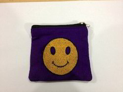 smiley cotton pouch