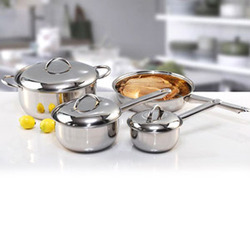 7 PC Cookware Set With Steel Handle