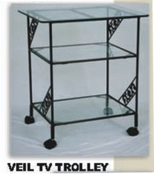 wrought iron tv trolly