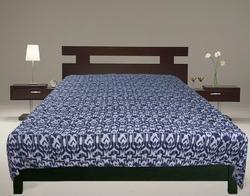 Kantha Ikat Bed Cover