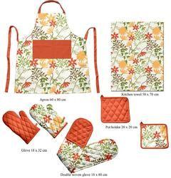 Flower Printed Kitchen Linen