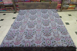 New Cotton Kantha Mughal Design Bed Cover