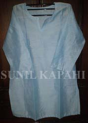 cotton silk tunic skyblue