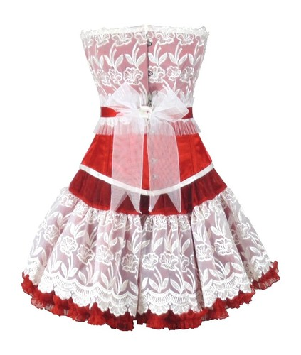 Authentic Steel Boned Valentince Overbust Corset Dress