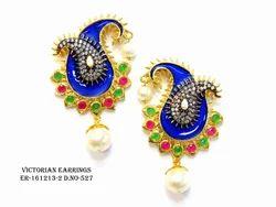Blue Victorian Earring