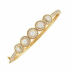 Gold Plated Diamond Bangle