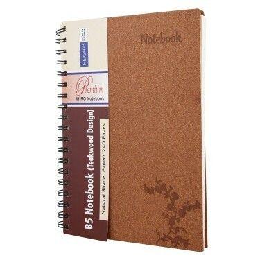 A5 Teak Wood Note Diary