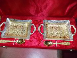 Gold And Silver Plated Mix Trays With Spoons