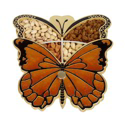 Butterfly Shaped Wooden Handmade Dry Fruit Gift Box
