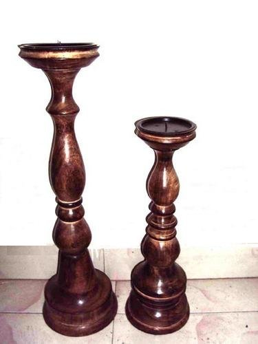 Wooden Candle Holders Antique Candle Holders Exporter From Saharanpur