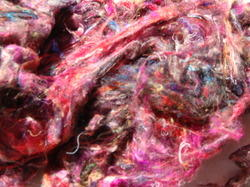 Sari Silk Fibers for Spinners, Weavers, Artisans