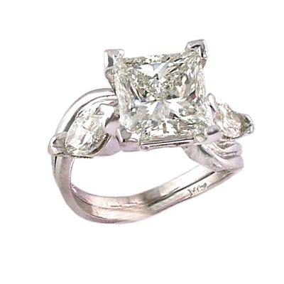 custom princess cut diamond ring