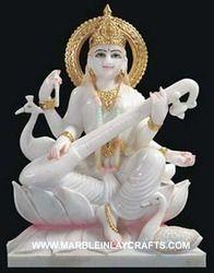 Makrana Marble Saraswati Maa Statue