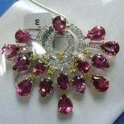 Diamond N Ruby Pendent