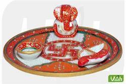 Vaah Marble Puja Thali Set