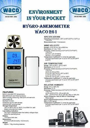 Anemometer Waco Make with Temp & Humidity