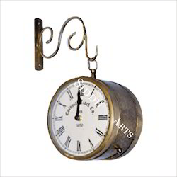 Station Clock In Brass Color