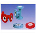 PTFE / PP Lining Three Way Pipe Tee With Flange