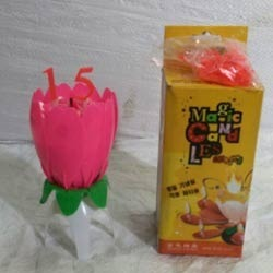 New Flower Number Candle