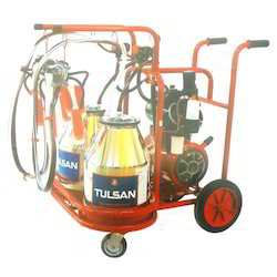 Trolley Model Milking Machine Classic Type Double Bucket