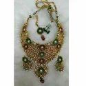 Red Stone Kundan Jewellery