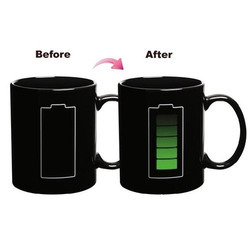 battery changing color mug cup