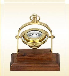 Nautical Gimbaled Ship Compass