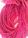 Pink Chalcedony Cut Roundel Beads