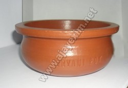 Terracotta Biryani Handi - Logo on Side