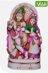 Vaah Terracotta Hand Painted Radha Krishna Idol
