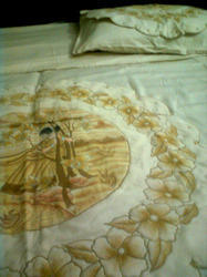 patch work hand painted bed sheet