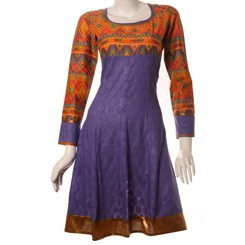 Lavender+Cotton+Anarkali+Kurta