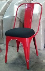 Iron Dining Chair With Cushion