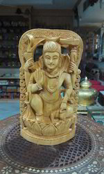 Wooden Carving Shiva Statue