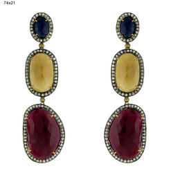 2012 Designer Ruby Gemstones Earrings Jewelry