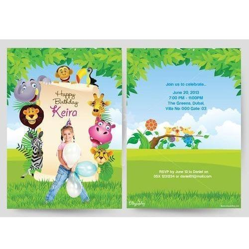 Paper Card Birthday Invitation Card Manufacturer From Chennai