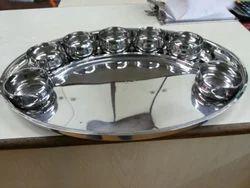 Steel Oval Thali Set