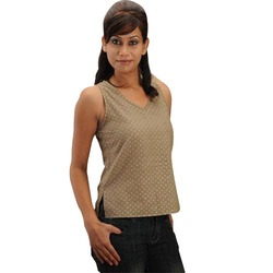 Sleeveless Cotton Tops