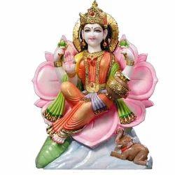 Marble Lakshmi Mata Statue
