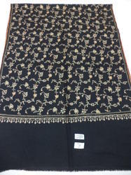 100 fine merino wool hand embroidered all over stoles