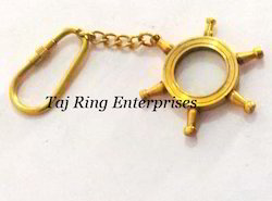 Wheel Style Magnifying Key Chain