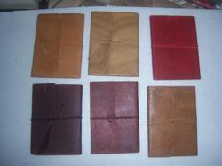 Goat And Buffalo Leather Journals In Assorted Colors
