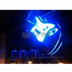 Acrylic Guitar Neon Sign Board