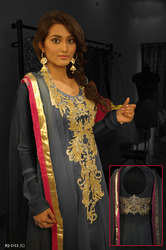 Readymade Salwar Kameez Grey Colors