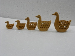 Wooden Undercut Duck Set