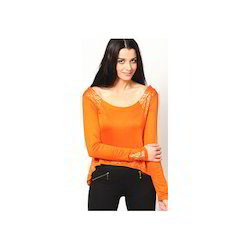Orange Croped Top