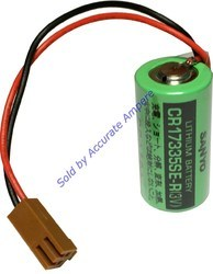 Sanyo Cr17335se-r 3v Limno2 Fanuc Cnc Lithium Battery