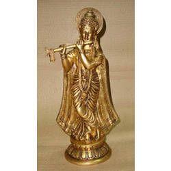 Krishna Standing w/ Shawl on rd. Base