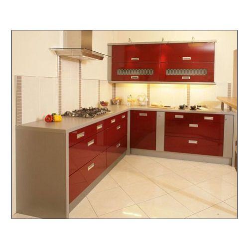L Shaped Modular Kitchen Service: Service Provider Of Modular Kitchen & Wooden Wardrobe By