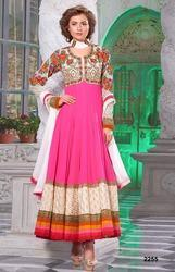 Pink Georgette Embroidery Party Wear Suit